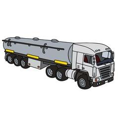 Big tank truck vector