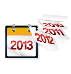 Calendar flying vector