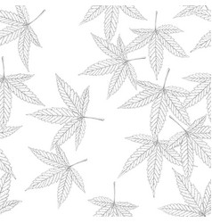 Cannabis leaf seamless pattern vector