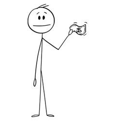 Cartoon man businessman customer or client vector