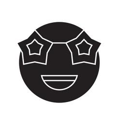 celebrity emoji black concept icon vector image