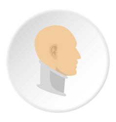 Cervical collar icon circle vector