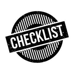 Checklist rubber stamp vector
