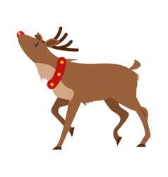 christmas realistic deer isolated on white vector image