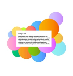 Color graphic with information box vector