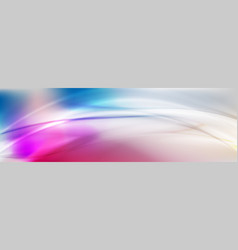 colorful holographic blurred waves abstract vector image