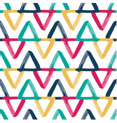 Colorful overlapping triangles seamless vector