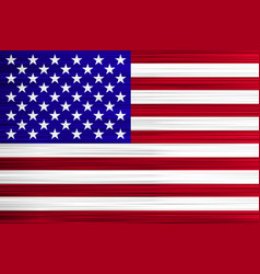 concept usa flag red stripes and white stars vector image