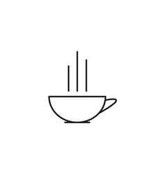 Cup of hot cofee icon vector