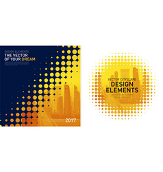 design elements set for corporate graphic layout vector image