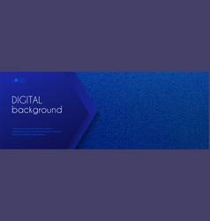 digital long banner template abstract dark vector image