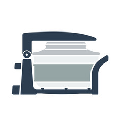 Electric con oven icon vector