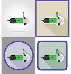 electric repair tools flat icons 06 vector image