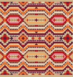 ethnic tribal seamless pattern in autumn colors vector image