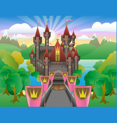 fairytale beautiful castle vector image