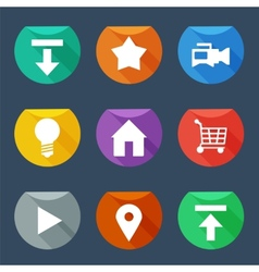 Flat UI icons set vector image