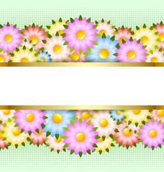 Flower card template vector