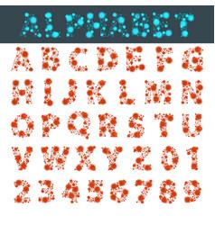 Font space alphabet typeface script with minimal vector