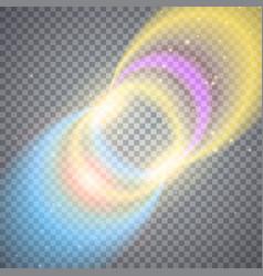 Glittering magic circles vector