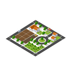 isometric suburban ecological vector image