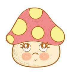 Kawaii sad hungus icon vector