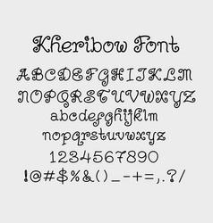 Kheribow alphabet character typography vector