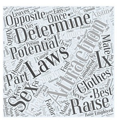 Laws of Attraction Word Cloud Concept vector