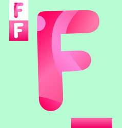 letter f graphic design vector image
