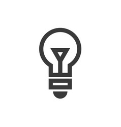 light bulb icon symbol vector image
