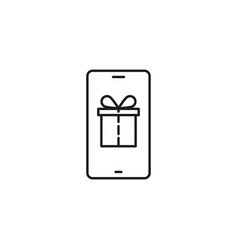 Line gift from mobile provider on vector