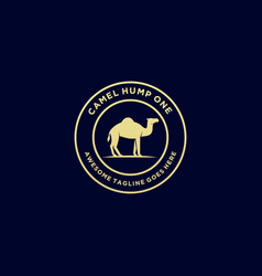 Logo camel hump one vintage badge vector