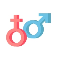 Male and female symbols combination vector