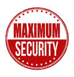 Maximum security sign or stamp vector