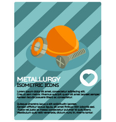 metallurgy color isometric poster vector image