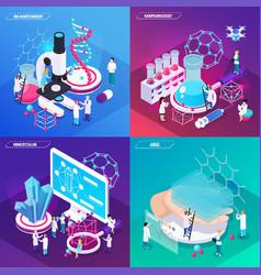 Nanotechnology 2x2 design concept vector