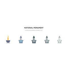 National monument monas icon in different style vector