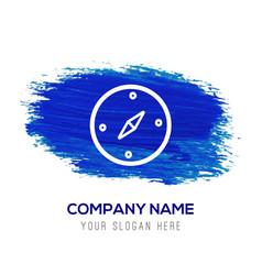 Navigation compass icon - blue watercolor vector