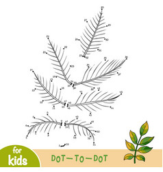 numbers game dot to dot game for children walnut vector image