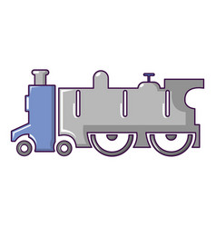 Old steam locomotive icon cartoon style vector
