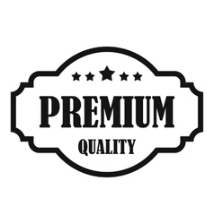 Premium quality label icon simple style vector