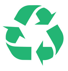 Recycle and zero waste symbol with vector