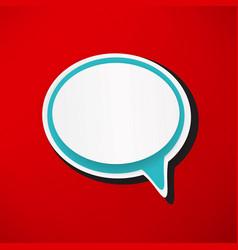 retro style bubble speech icon vector image
