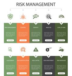 Risk management infographic 10 steps ui design vector