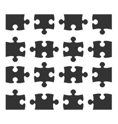set icon jigsaw puzzle part design elements vector image