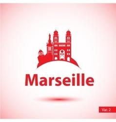 silhouette symbol marseille vector image