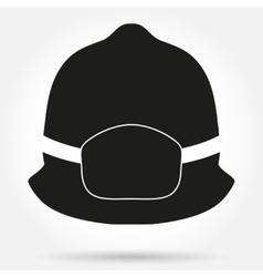 Silhouette symbol of fireman helmet vector