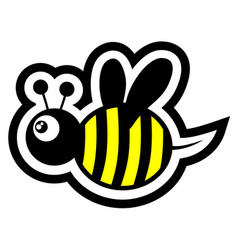 small bee vector image