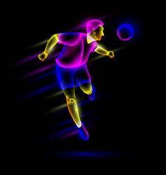 soccer player head shooting the soccer ball vector image