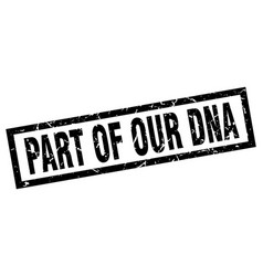 Square grunge black part of our dna stamp vector