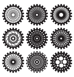 steampunk gears vector image